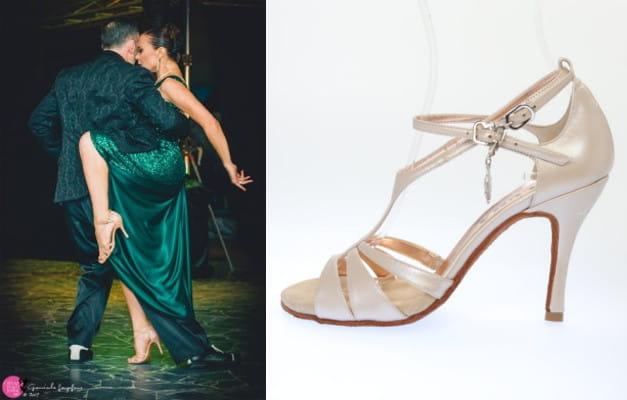 Cionci con scarpe da tango PLUMA